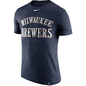 Nike Men's Milwaukee Brewers Dri-Blend Navy DNA T-Shirt