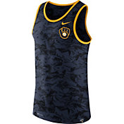 Nike Men's Milwaukee Brewers Dri-Blend Premium Navy Tank Top