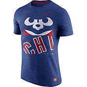Nike Men's Chicago Cubs Cooperstown Royal Tri-Blend T-Shirt