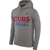 Nike Men's Chicago Cubs Dri-FIT Grey Therma Pullover Hoodie