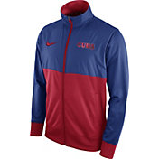 Nike Men's Chicago Cubs Royal/Red Full-Zip Track Jacket