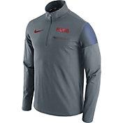 Nike Men's Chicago Cubs Dri-FIT Grey Performance Half-Zip Fleece