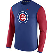 Nike Men's Chicago Cubs Waffle Crew Royal/Red Pullover Fleece