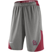 Nike Men's St. Louis Cardinals Dri-FIT Authentic Collection Grey Performance Knit Shorts