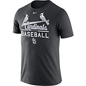 Nike Men's St. Louis Cardinals Practice Charcoal T-Shirt