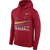 Nike Men's St. Louis Cardinals Dri-FIT Red Therma Pullover Hoodie