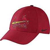 Nike Men's St. Louis Cardinals Dri-FIT Red Legacy 91 Swoosh Flex Hat