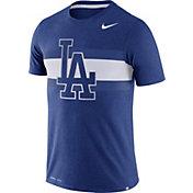 Nike Men's Los Angeles Dodgers Dri-Blend Royal Local Stripes T-Shirt
