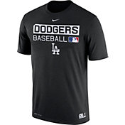 Nike Men's Los Angeles Dodgers Dri-FIT Authentic Collection Black Legend T-Shirt