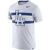 Nike Men's Los Angeles Dodgers Dri-Blend White Local Stripes T-Shirt