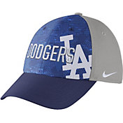 Nike Men's Los Angeles Dodgers Dri-FIT Royal/Grey Swoosh Flex Fitted Hat