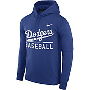 Nike Men's Los Angeles Dodgers Dri-FIT Royal Therma Pullover Hoodie