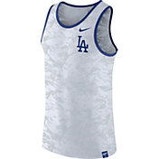 Nike Men's Los Angeles Dodgers Dri-Blend Premium White Tank Top