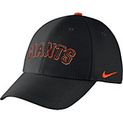 Nike Men's San Francisco Giants Dri-FIT Black Legacy 91 Swoosh Flex Hat