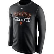 Nike Men's San Francisco Giants Practice Black Long Sleeve Shirt