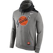 Nike Men's San Francisco Giants Cooperstown Grey Hybrid Pullover Hoodie