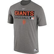 Nike Men's San Francisco Giants Dri-FIT Authentic Collection Grey Legend T-Shirt