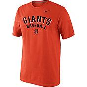 Nike Men's San Francisco Giants Practice Orange T-Shirt