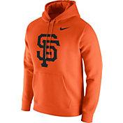 Nike Men's San Francisco Giants Club Orange Pullover Hoodie