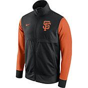 Nike Men's San Francisco Giants Black/Orange Full-Zip Track Jacket