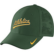 Nike Men's Oakland Athletics Dri-FIT Green Vapor Classic Swoosh Flex Fitted Hat
