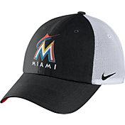 Nike Men's Miami Marlins Dri-FIT Black/White Heritage 86 Adjustable Hat