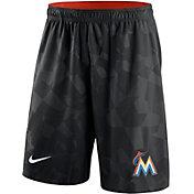 Nike Men's Miami Marlins Dri-FIT Black Knit Shorts