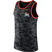 Nike Men's Miami Marlins Dri-Blend Premium Grey Tank Top