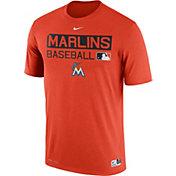 Nike Men's Miami Marlins Dri-FIT Authentic Collection Orange Legend T-Shirt