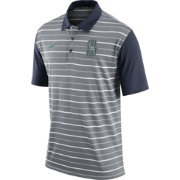 Nike Men's Seattle Mariners Dri-FIT Grey Striped Polo