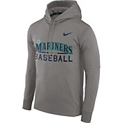 Nike Men's Seattle Mariners Dri-FIT Grey Therma Pullover Hoodie