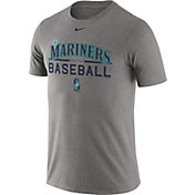 Nike Men's Seattle Mariners Practice Grey T-Shirt