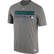 Nike Men's Seattle Mariners Dri-FIT Authentic Collection Grey Legend T-Shirt