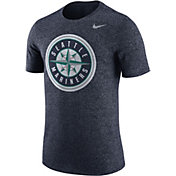 Nike Men's Seattle Mariners Marled Navy T-Shirt