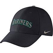 Nike Men's Seattle Mariners Dri-FIT Navy Legacy 91 Swoosh Flex Hat