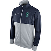 Nike Men's Seattle Mariners Navy/Grey Full-Zip Track Jacket