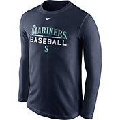 Nike Men's Seattle Mariners Practice Navy Long Sleeve Shirt