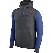 Nike Men's New York Mets Dri-FIT Grey AV Pullover Hoodie