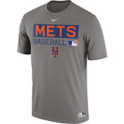 Nike Men's New York Mets Dri-FIT Authentic Collection Grey Legend T-Shirt