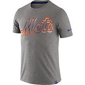 Nike Men's New York Mets Marled Grey T-Shirt