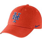 Nike Men's New York Mets Dri-FIT Orange Heritage 86 Stadium Adjustable Hat