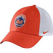 Nike Men's New York Mets Dri-FIT Orange/White Heritage 86 Adjustable Hat