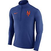 Nike Men's New York Mets Dri-FIT Royal Element Half-Zip Jacket