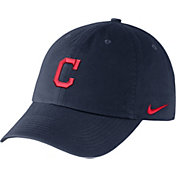 Nike Men's Cleveland Indians Dri-FIT Navy Heritage 86 Stadium Adjustable Hat