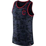 Nike Men's Cleveland Indians Dri-Blend Premium Navy Tank Top
