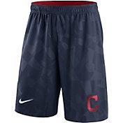 Nike Men's Cleveland Indians Dri-FIT Navy Knit Shorts