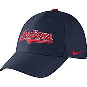 Nike Men's Cleveland Indians Dri-FIT Navy Legacy 91 Swoosh Flex Hat