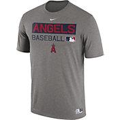 Nike Men's Los Angeles Angels Dri-FIT Authentic Collection Grey Legend T-Shirt