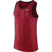 Nike Men's Los Angeles Angels Dri-Blend Premium Red Tank Top