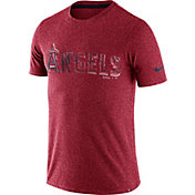 Nike Men's Los Angeles Angels Marled Red T-Shirt
